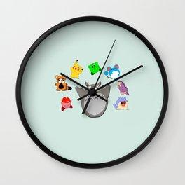 Video game Anime Character Rainbow Wall Clock