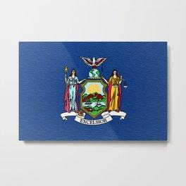 Fancy Flag:  New York Metal Print