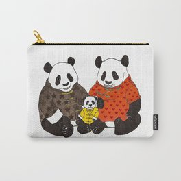 The panda family Carry-All Pouch