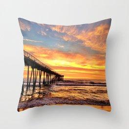 "Hermosa Beach ""A Parade of Colors"" Throw Pillow"