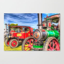 Traction Engine and Steam Lorry Canvas Print