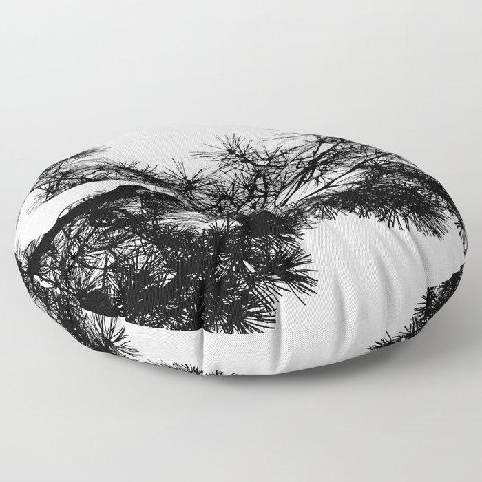 Pine Tree Black & White Floor Pillow