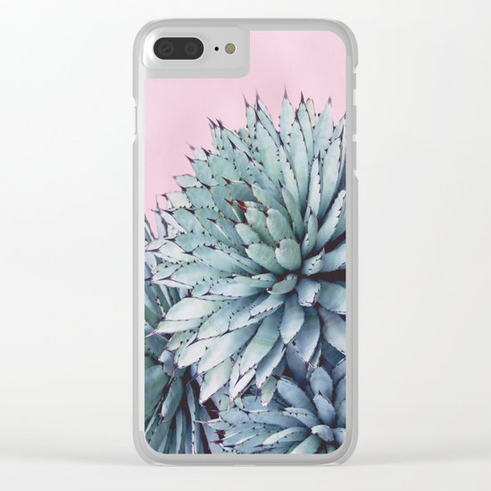 Pink Crush Succulent I Clear iPhone Case