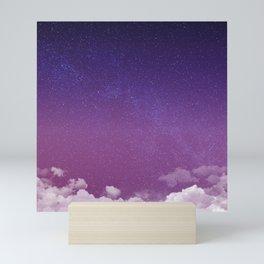 Violet Starry Sky Mini Art Print