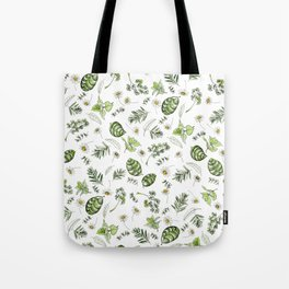Scattered Garden Herbs Tote Bag