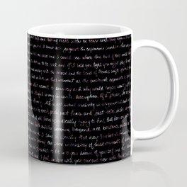 Fig Burst + Journal Writing Overlay Coffee Mug