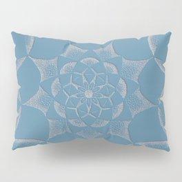 Dot Mandala Dark Blue - 3D Pointilism Pillow Sham