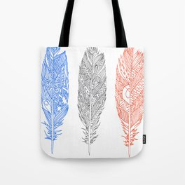 Patterned Plumes Tote Bag