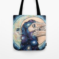 celestial Tote Bags featuring Celestial  by Wendy Ortiz