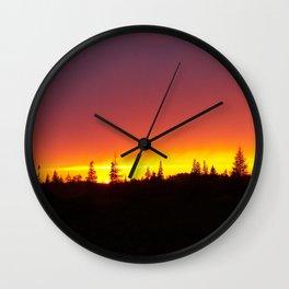Striking Sunset Wall Clock