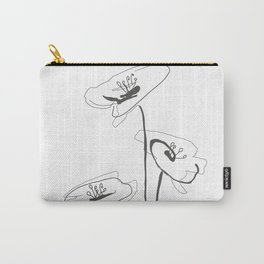 Line Art of Flowers Carry-All Pouch