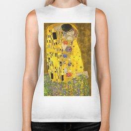 The Lovers Kiss After Klimt Biker Tank