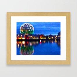 Blurry Vancouver Framed Art Print