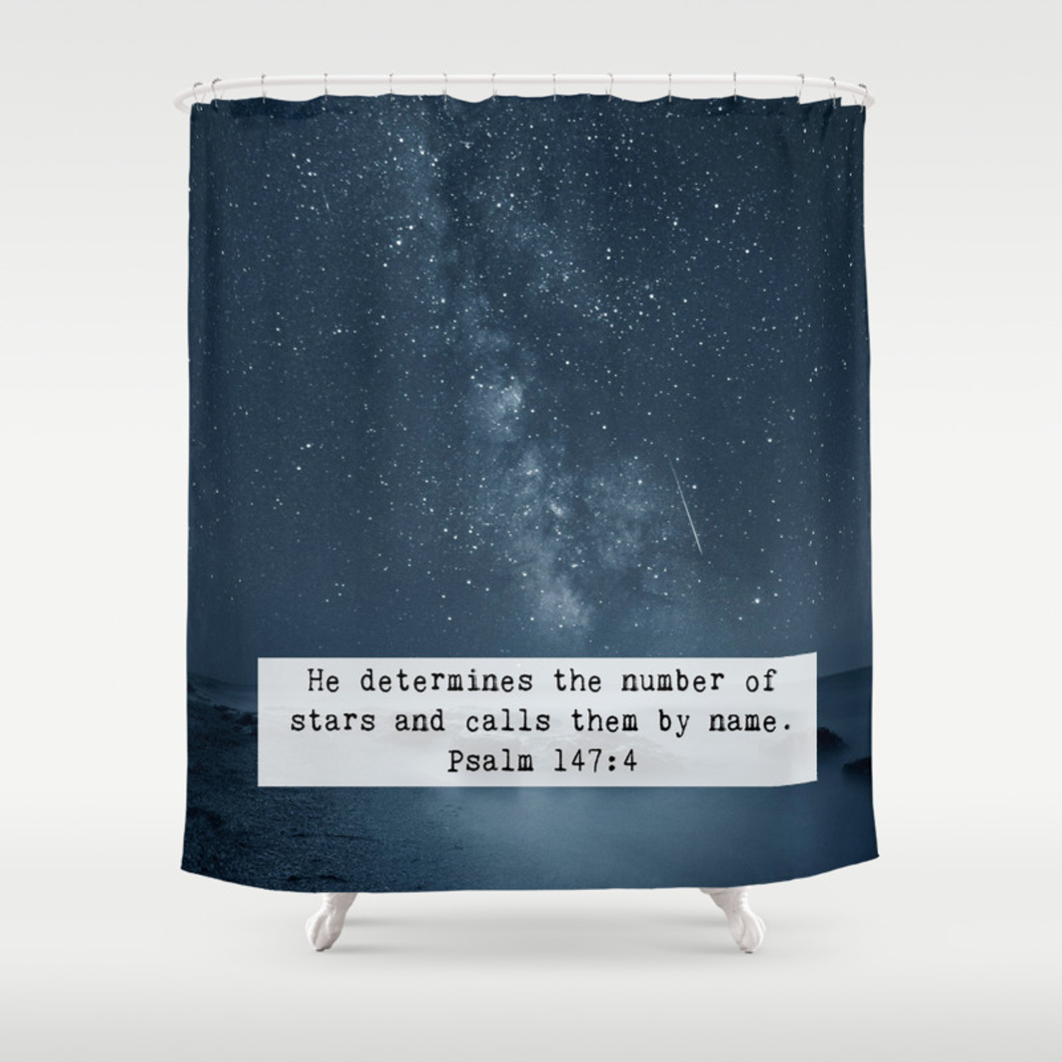Counts The Stars Shower Curtain By