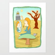 once upon a mushroom Art Print