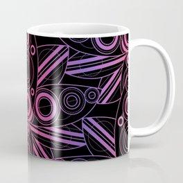 Colored Lotus Rainbow Black Coffee Mug