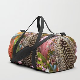 Banksia and Protea blooms Duffle Bag