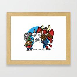 Hell Freezes Over Snowman Framed Art Print