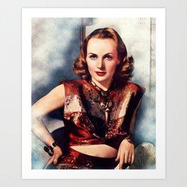 Carole Lombard, Actress Art Print