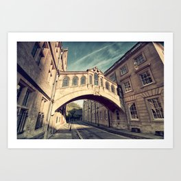 Bridge of sighs - Oxford Art Print