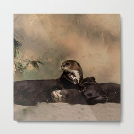 Quiet, please! He is sleeping Metal Print