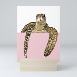 Hi! Sea Turtle Mini Art Print