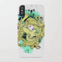 geisha iPhone & iPod Cases featuring Geisha by Geo Law