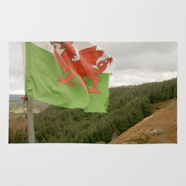 Top of the Hill Welsh Flag Rug