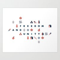 vermont Art Prints featuring Vermont by Always With Honor