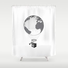 Tiny Changes To Earth Shower Curtain