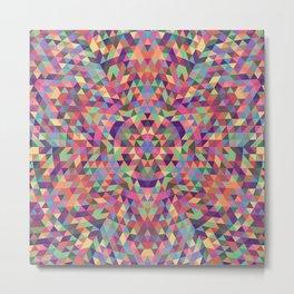 Colorful Triangle Mandala Metal Print