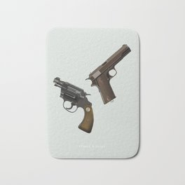 Bonnie and Clyde - Alternative Movie Poster Bath Mat
