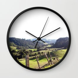 Green Rolling Hills Wall Clock