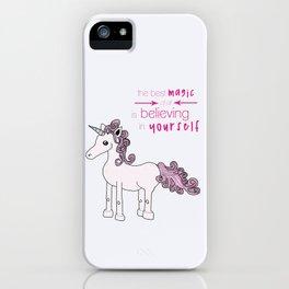 Unicorn Believes iPhone Case