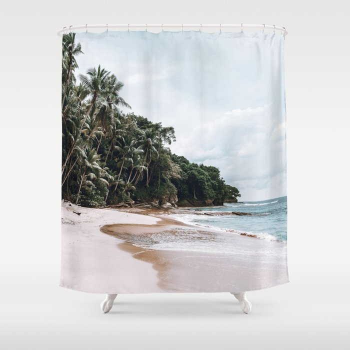 Tropical Island Shower Curtain By Tropicalbananana