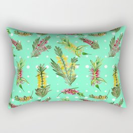 Australian Native Floral Pattern Rectangular Pillow