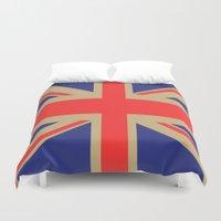 union jack Duvet Covers featuring Union Jack by MeMRB
