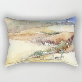 An Arroyo Windmill Rectangular Pillow