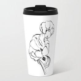 Tulips Ink Drawing Travel Mug