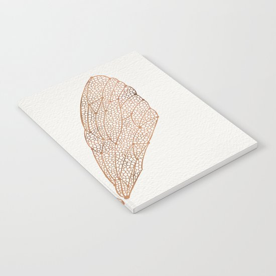 Cicada Wings in Rose Gold Notebook
