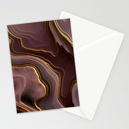 Mauve Agate Abstract Stationery Cards