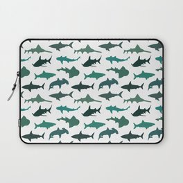 Green Sharks Laptop Sleeve