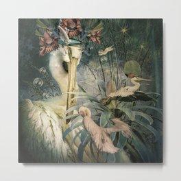 The Loving Pelican Metal Print