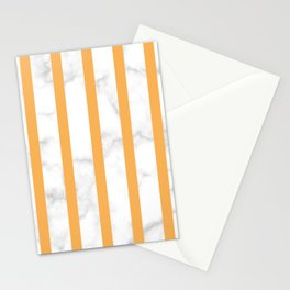 marble vertical stripe pattern yellow Stationery Cards
