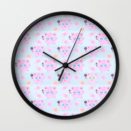 Jigglypuff pattern Wall Clock