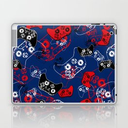 Video Game Red White & Blue 1 Laptop & iPad Skin