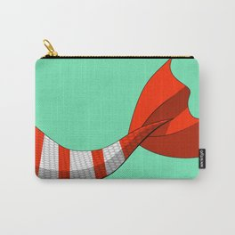 Candy Cane Mermaid Tail #2 #Christmas #Holiday Carry-All Pouch