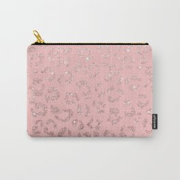 Modern faux rose gold glitter leopard ombre pink pattern Carry-All Pouch