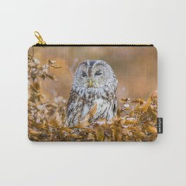 Tawny Owl in woodland Carry-All Pouch