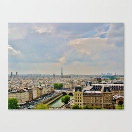 The View from Notre Dame Canvas Print